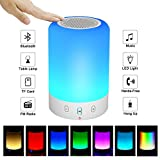 Night Light Bluetooth Speaker, Portable Wireless Bluetooth Speaker, 6 Color LED...