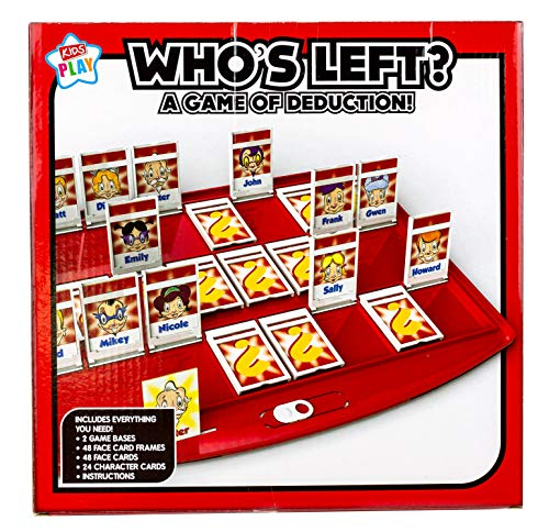 Kids Play - Who's Left? - Board Game of Deduction | Hilarious 2 Player Board Game for Kids | Ideal Family Game for Bring People Together | Age 4+