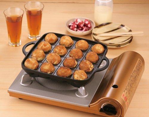 Iwatani Takoyaki Grill Pan CB-P-TAF, Medium, Black