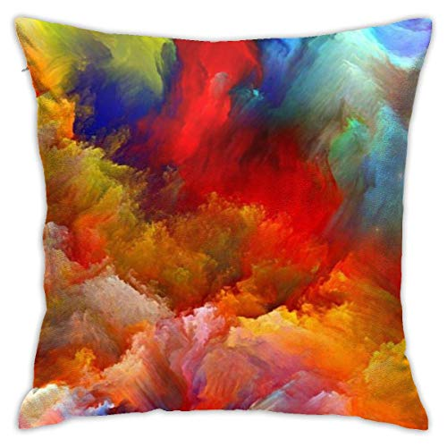 Throw Pillow Cover Cushion Cover Pillow Cases Decorative Linen Colourful Clouds for Home Bed Decor Pillowcase,45x45CM