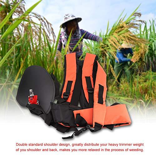Universal Trimmer Double Shoulder Strap, Adjustable Lawn Mower Harness Nylon Waist Belt for Garden Brush Cutter/Brushcutters/Strimmer Harness/Trimmers