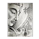 HGLLL Impression Artistique Dessin Art Photo Bouddhiste Zen Bouddha Affiche Toile Peinture Maison Salon décoration (40x60 cm) sans Cadre