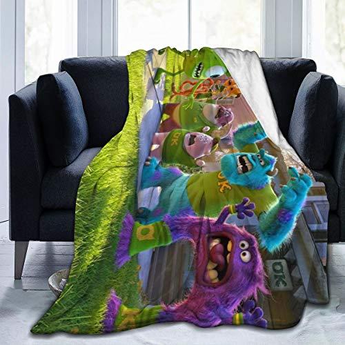 "MonsT-ers Inc Ultra-Soft Micro Fleece Throw Blanket 3D Printed Lightweight Cozy Bed Sofa Blanket 60"""" x50"