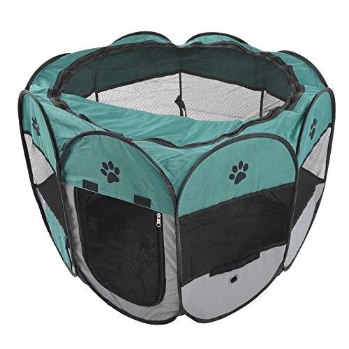 Parluna Bequemes und schnelles Haustierzelt, Tierhauskäfig, langlebiger, atmungsaktiver, zusammenklappbarer Kreißsaal für Haustiere(M, XBD82 Green Gray no Kettle Toy)