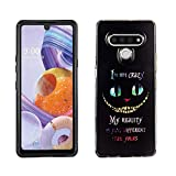Stylo 6 Dual Hybrid Case CASEVEREST 3D Print Design Slim Fit Cover Stylo 6 Cheshire Cat Alice in Wonderland Quotes