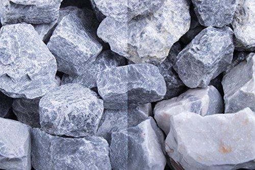 Kies Splitt Zierkies Edelsplitt Steinschlag Kristall Blau SS, 30-60 mm 500kg