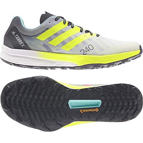 adidas Terrex Speed Ultra, Zapatillas de Trail Running Hombre, FTWBLA/Amasol/Plamat, 43 1/3 EU