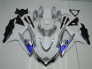 NT FAIRING Blue Silver White Injection Mold Fairing kits Fit for Suzuki 2008 2009 2010 GSXR 600 750 K8 08 09 10 GSX-R600 Aftermarket Painted ABS Plastic Motorcycle Bodywork