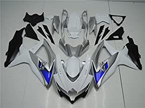 NT FAIRING Silver Blue White Injection Mold Fairing kits Fit for Suzuki 2008 2009 2010 GSXR 600 750 K8 08 09 10 GSX-R600 Aftermarket Painted ABS Plastic Motorcycle Bodywork