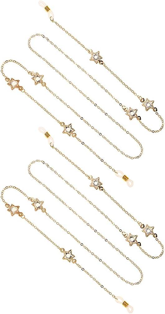 KESYOO Eyeglass Chain Diamond New product! New type Star String Glass Sunglass Strap H Ultra-Cheap Deals