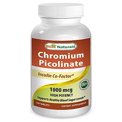 Best Naturals Chromium Picolinate 1000 mcg 120 Tablets