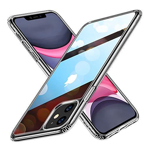 ESR HD Clear Hülle für iPhone 11 Hülle - Kratzfeste 9H Anti-Gelb Glas Back und TPU Silikon Rahmen & weichem Bumper - Stoßabsorbierende Schutzhülle für iPhone 11 - Klar