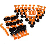 Fliesen-Nivelliersystem, wiederverwendbar, 100 Stück, mit Schraubenschlüssel, Fliesen-Nivellierungsset, Fliesen-Installations-Werkzeug für Böden, Wände, Gebäude