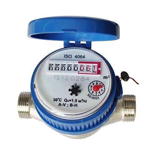 Water Meter,15 mm 1/2 Inch Cold Water Meter Read Of Cubic Meters For Garden...