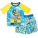 Paw Patrol Chase Marshall Rubble Toddler Boys Raglan Blue/Yellow 3T