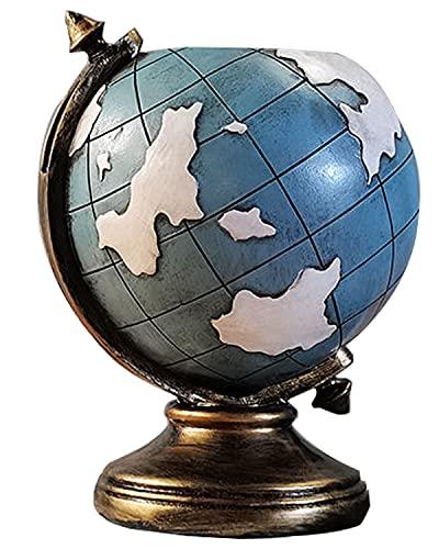 ペンスタンド 地球儀型 樹脂 9.5×14cm 420g 文房具 筆立て 小物収納 雑貨 おしゃれ かわいい 机上