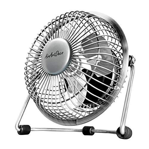 Mini Desk Fan Silver