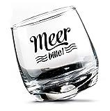 Gilde Set di 2 Bicchieri da Whisky, Bicchieri da Rum, Vetro oscillante, Vetro Girevole in Confezione Regalo Altezza 8,5 cm Diametro 7,5 cm 200 ml