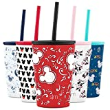 Simple Modern Disney Kids Cup 12oz Classic Tumbler with Lid and Silicone Straw - Vacuum Insulated Stainless Steel for Toddlers Girls Boys - Disney: Mickey: Bandana