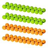 GoSports Foam Fire Replacement Balls - Pack of 80 (40 Green + 40 Orange)