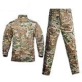 Suiyue Tech. Traje de Ropa táctica,táctico Chaqueta de Uniforme de Combate Camisa y Pantalones Traje para ejército Militar Airsoft Paintball Caza Juego de Guerra de Camuflaje
