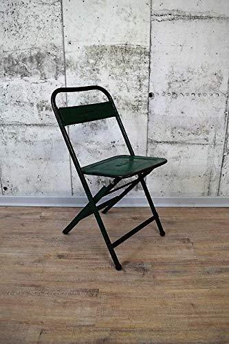 FidgetGear Toller Metall Klapp-Stuhl, Lehnstuhl im Industrie Style, Grün Show One Size