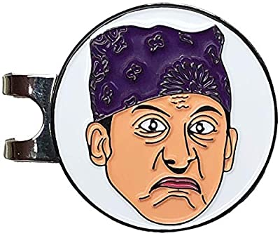 Balanced Co. Michael Scott Golf Hat Clip with Enamel Magnetic Ball Marker (Prison Mike)