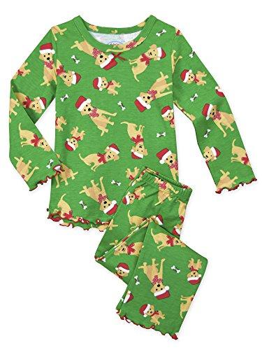 Sara's Prints Conjunto de pijama para niñas con volantes y ajuste relajado - - 24 meses