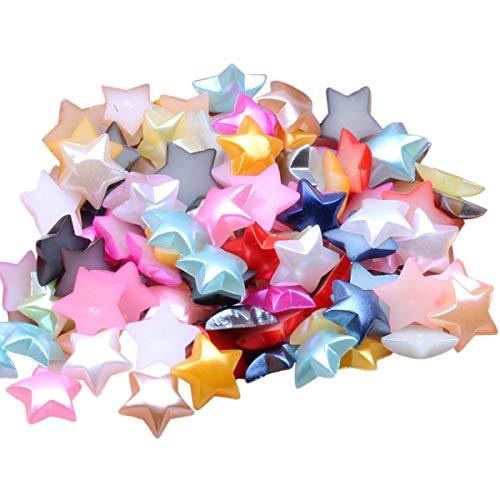 Toyvian 80pcs Half Pearl Star Beads Manualidades Abalorios Accesorios de bricolaje para...
