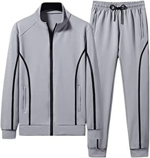 Men's Tracksuit Casual 2 Piece Outfit Athletic Jogging Suits Full Zip Sports Sweatsuit
