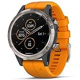 Garmin Unisex - Adult Fēnix 5 Plus Sports Watch, Orange/Grey, TU EU