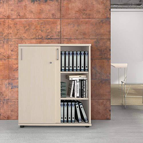 Weber Büro Uni Aktenschrank abschließbar 3OH 1,0 M Ahorn Büroschrank Schiebetürenschrank