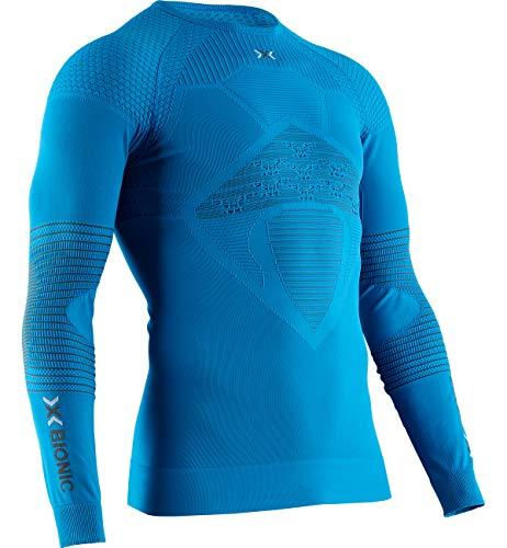X-BIONIC Energizer 4.0 T-Shirt à Manches Longues et col Rond pour Homme M Bleu Sarcelle/Anthracite