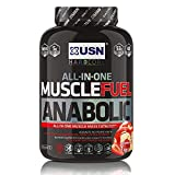 USN Muscle Fuel Anabolic Strawberry Lean Muscle Gain Shake Powder, 2000 g