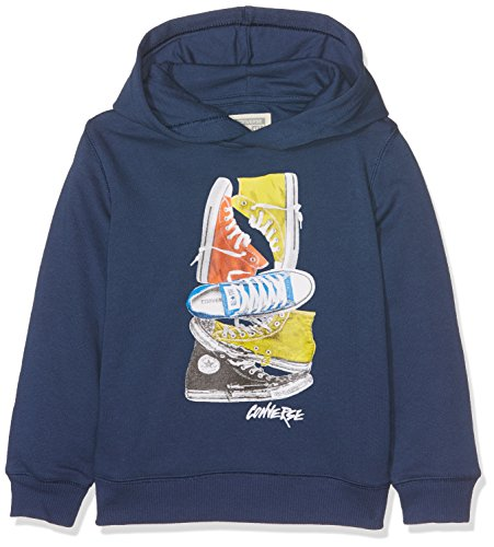 Converse Jungen Stacked Remix Pull Over Pullover, Blau (All Star Navy), 12-13 Jahre