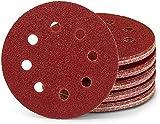 Discos de lija profesionales, 25 unidades, 8 agujeros, 125 mm de diámetro, grano 40, para lijadora excéntrica, hojas de lija y discos de lijado