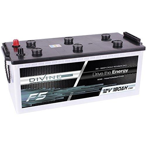 Divine 12V 180Ah Solarbatterie Mover Versorgungsbatterie Wohnmobil Boot Marine Camping Batterie Wartungsfrei
