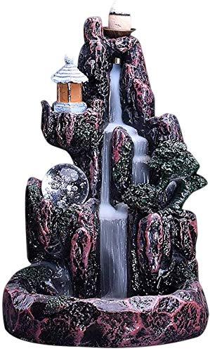 Venus valink Keramik-Räucherhalter, Wasserfall-Räucherstäbchen-Halter, LED-Licht-Typ, Aromatherpie-Duft, Räuchergefäß, Halter für Hotel, Zuhause, Wohnzimmer, Dekoration a