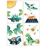 Pandawal Dinosaurier Poster Wanddeko Dino Mint Bilder