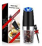 Gravity Electric Pepper Grinder, Salt or Pepper Mill & Adjustable...