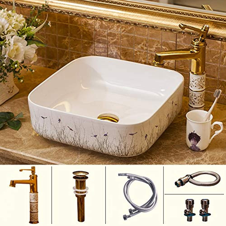 Einzigartige Keramik über CounterBasin Art Basin Basin Home Badezimmer BadezimmerWaschbecken Waschbecken, ComboArtistic Vessel Vanity Sink BowlPassend für Hotelbder, Bars, Huser, Bder, Cafés