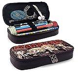 Maneskin Cartoon Image Stationery Bag Zipper Pencil Case Cosmetic Bag Storage Bag Leather Pencil Case for School Office