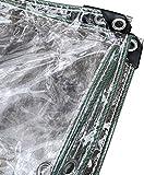 ZHANGQINGXIU Lonas Impermeables Exterior,Lámina De Lona Impermeable De Alta Resistencia, Partición Transparente Para Exteriores Con Ojales, Para Cubierta De Balcón De PVC Resistente Al Viento A Prueba