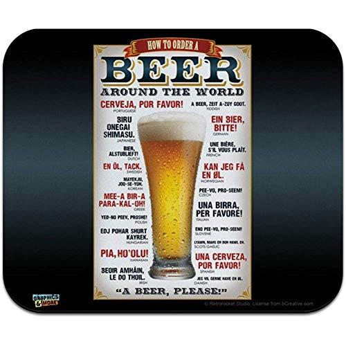 Hoe bestel je een biertje rond de wereld laag profiel dunne muismat muismat muismat