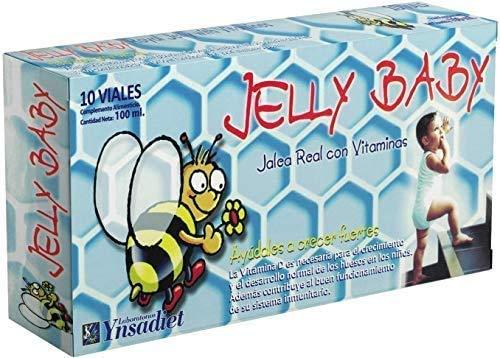 Jalea real para Niños– Jalea Real con propóleo Infantil – Própolis - vitamina C – Vitamina D3 – Vitamina E y Minerales -Mayor energía y vitalidad - Aumenta las defensas –Jelly Baby -10 viales