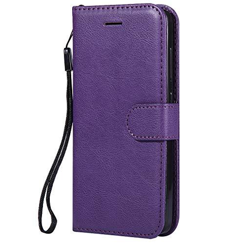 Hülle für Xiaomi Redmi 4A Hülle Handyhülle [Standfunktion] [Kartenfach] Tasche Flip Hülle Cover Etui Schutzhülle lederhülle flip case für Xiaomi Redmi 4A - DEKT051872 Violett