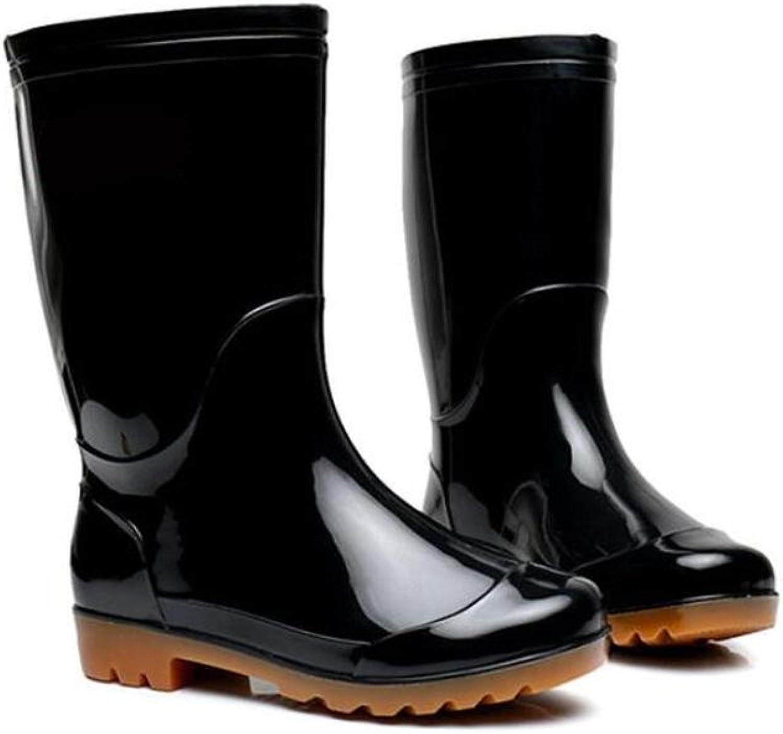 SISHUINIANHUA Herren Regen Stiefel Stiefel Stiefel Car Wash Schuhe Angeln Schuh Schutzschuhe   Wasserdichte Stiefel schwarz B07HF1RLMC  Neue Produkte im Jahr 2018 dd326a