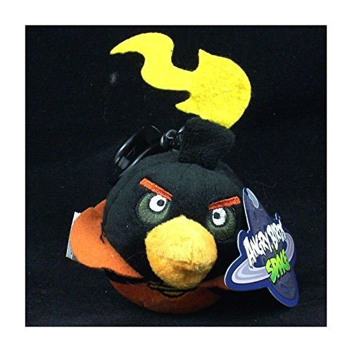 Angry Birds Plush - Space - Back Pack Clip - FIREBOMB the Black Bird (3 inch)