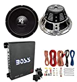 2) HIFONICS HFX12D4 12' 1600W Car Audio DVC Subwoofers +Mono Amplifier+Amp Kit