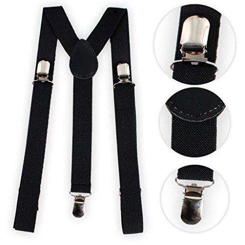 BRUBAKER bretelles unies, noires - 24 mm